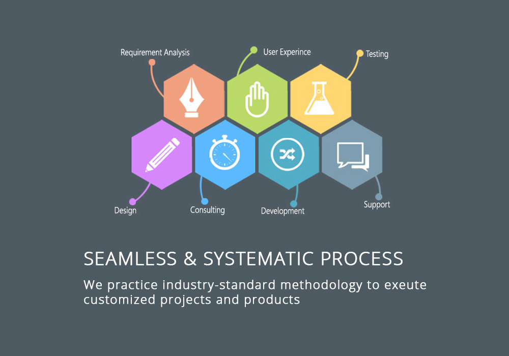 Seamless & Systematic Process Lamitrix. Lamitrix practice industry-standard methodology to exeute customized projects and products